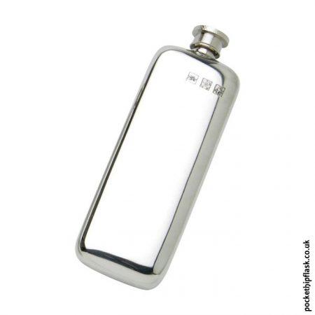 3oz-Plain-Slim-Line-Pewter-Boot-Hip-Flask