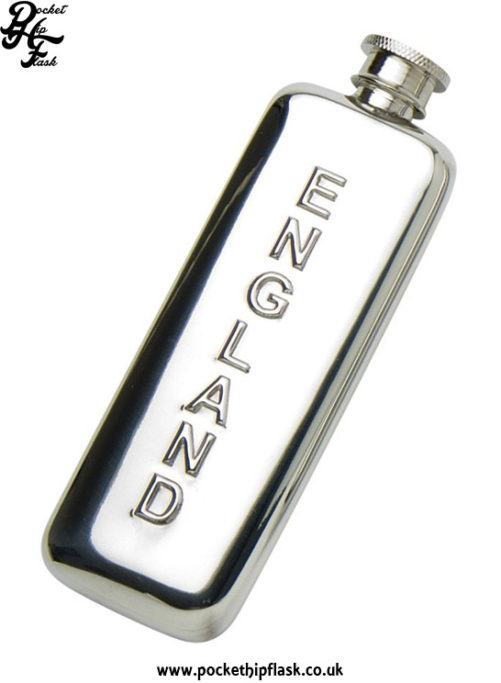 3oz-Slim-Line-Pewter-Boot-England-Hip-Flask
