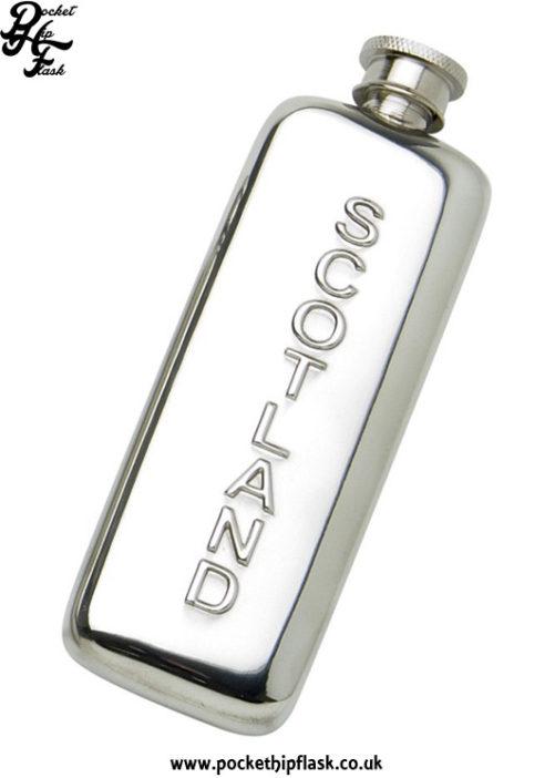 3oz-Slim-Line-Pewter-Boot-Scotland-Hip-Flask