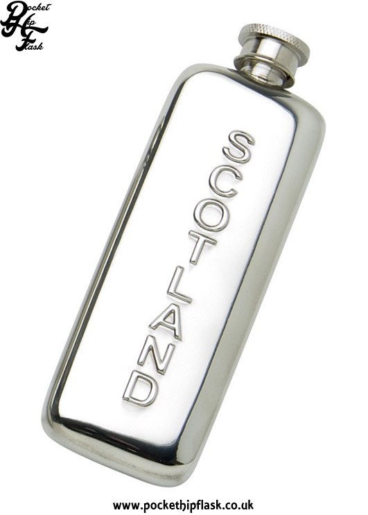 3oz-Slim-Line-Pewter-Boot-Scotland-Hip-Flask