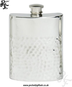 4oz-Two-Thirds-Hammered-Pewter-Hip-Flask
