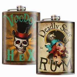American Art Funky Hip Flasks