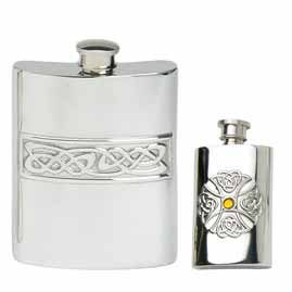 Celtic Pewter Hip Flasks