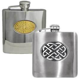 Celtic Stainless Steel Hip Flasks