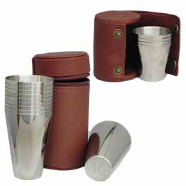 Hip Flasks at The Fun Fair - Cup-Sets