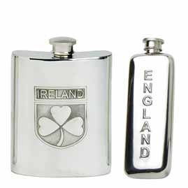English, Irish, Scottish, Welsh Hip Flasks