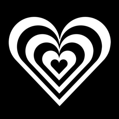 Flask Engraving Logo Image Striped Heart 126