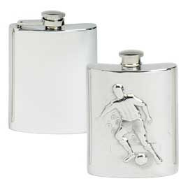 Kidney Shaped Pewter Hip Flasks
