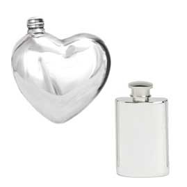 Ladies Pewter Hip Flasks