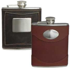 Leather Stainless Steel Hip Flasks