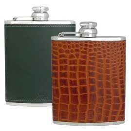 Luxury Leather Stainless Steel Hip Flasks