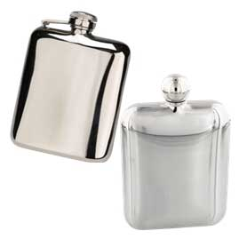 Stainless Steel Cushion Shaped Hip Flasks
