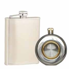 All Stainless Steel Hip Flasks
