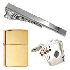 Zippo Lighters, Cufflinks and Tie Clips