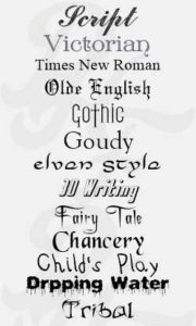 all our fonts