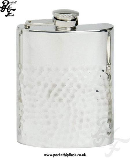 6oz-Two-Thirds-Hammered-Pewter-Hip-Flask-with-Captive-Top