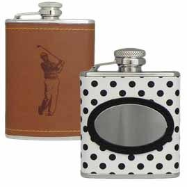 Faux Leather Hip Flasks