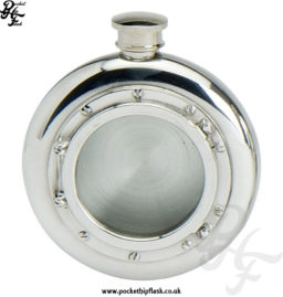 6oz-Round-Pewter-Hip-Flask-with-Port-Hole