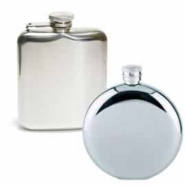 Plain Hip Flasks - Perfect for Logo Engraving