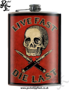 Hip Flasks at The Fun Fair - Life Fast Die Last American Art Hip Flask