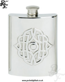 6oz-Pewter-Hip-Flask-with-Embossed-Celtic-Buckle