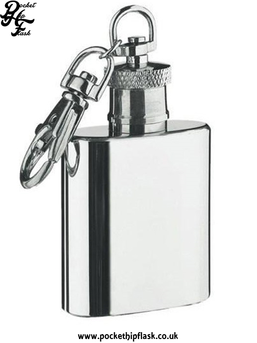 1oz Keyring, key chain Hip Flask