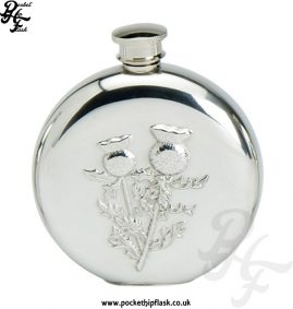 6oz-Round-Pewter-Scottish-Thistle-Hip-Flask