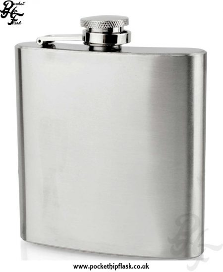 6oz Economy Hip Flask Stainless Steel