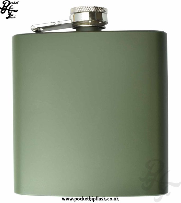 Army Green Hip Flask 6oz Stainless Steel
