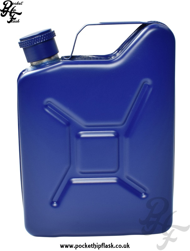 Blue Jerry Can 5oz Steel Hip Flask