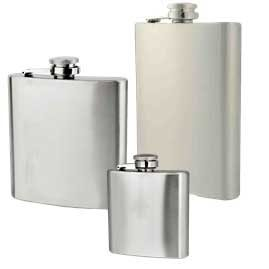 Economy Stainless Steel Hip Flask Range