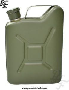 Green Jerry Can 5oz Steel Hip Flask