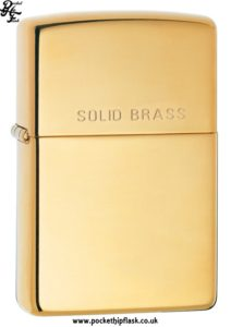 High Polish Shiny Solid Brass Zippo Lighter