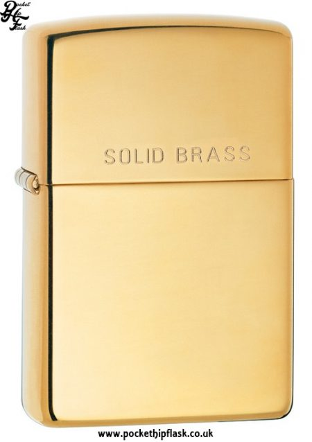 High Polish Shiny Solid Brass Zippo Lighter