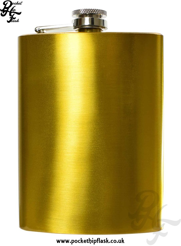 8oz Gold Stainless Steel Hip Flask