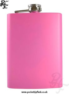 8oz Pink Stainless Steel Hip Flask
