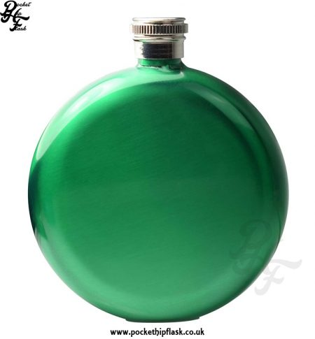 Round 5oz Green Hip Flask