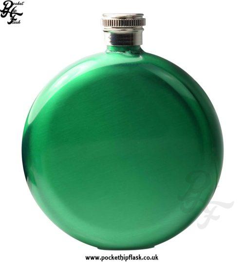 Round 5oz Green Hip Flask