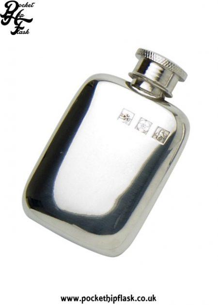 1.5oz Pewter Cushion Hip Flask