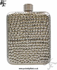 6oz Hammered Stainless Steel Pocket Flask