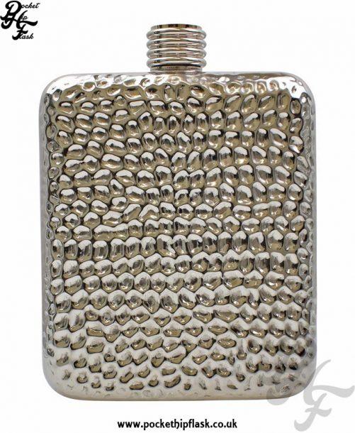 6oz Hammered Stainless Steel Pocket Flask