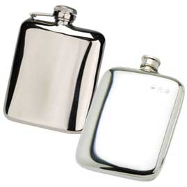 Cushion Shaped Hip Flasks