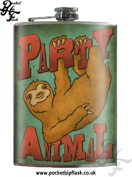 Party Animal 8oz Stainless Steel Hip Flask