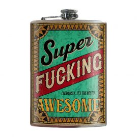 Super-Fucking-Awesome-8oz-Stainless-Steel-Hip-Flask