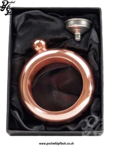 3.5oz Rose Gold Steel Bangle Hip Flask