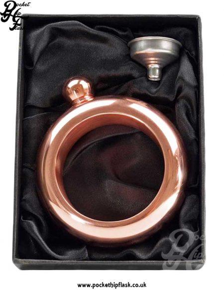 3.5oz Rose Gold Steel Bangle Hip Flask