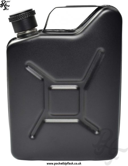 Black Jerry Can 5oz Steel Hip Flask