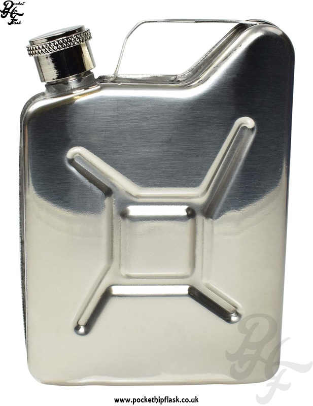 Shiny Steel Jerry Can 5oz Hip Flask