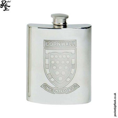 6oz-Pewter-Cornish-Cornwall-Hip-Flask