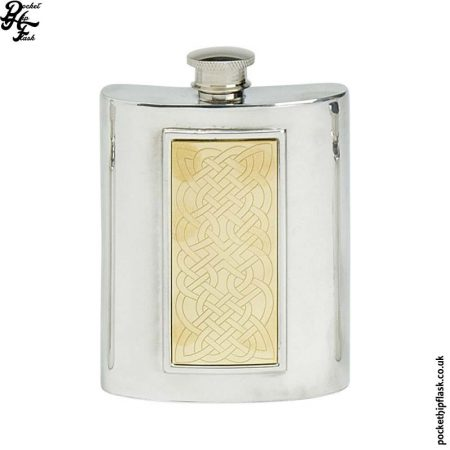 6oz-Pewter-Hip-Flask-with-Brass-Inlay